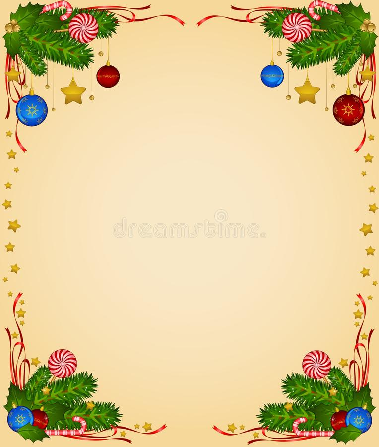 Candy Cane And Bolls Stock Images
