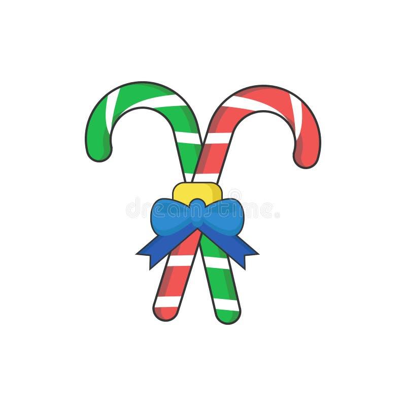 Candy Cane Cross Gift royalty illustrazione gratis