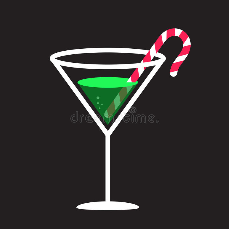 Candy Cane In Glass stock photography
