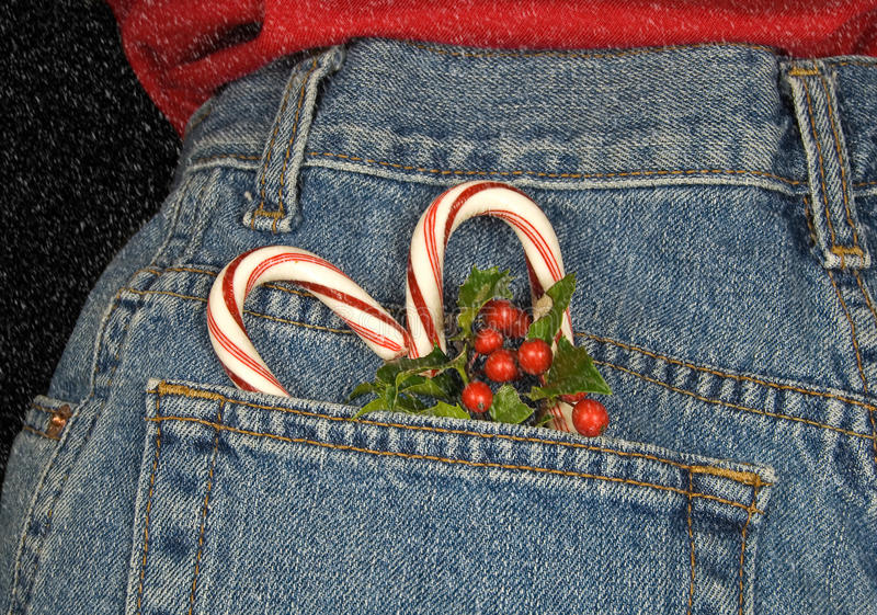 Candy cane heart stock image