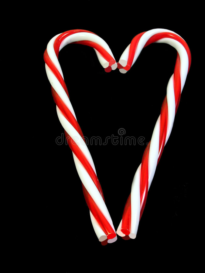 Candy Cane Heart Stock Images
