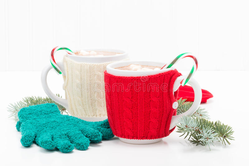 Candy Cane Hot Chocolate stock image