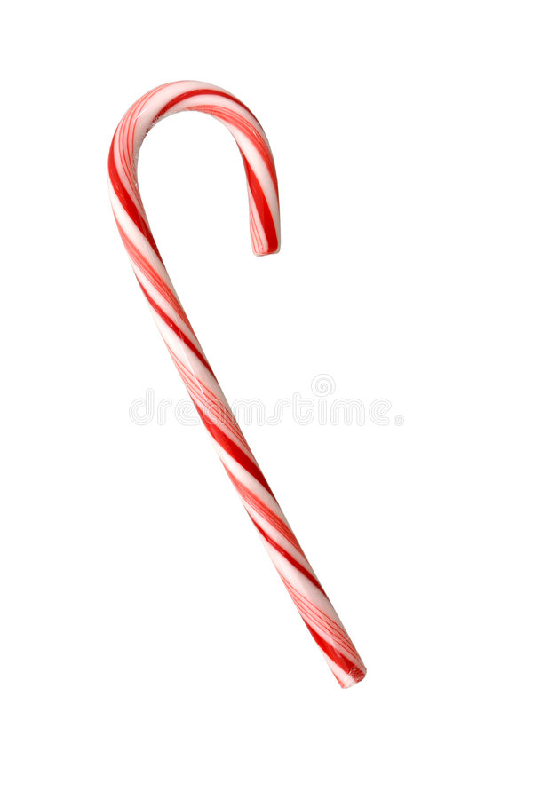 Free Candy Cane Isolated On White Stock Image - 50041