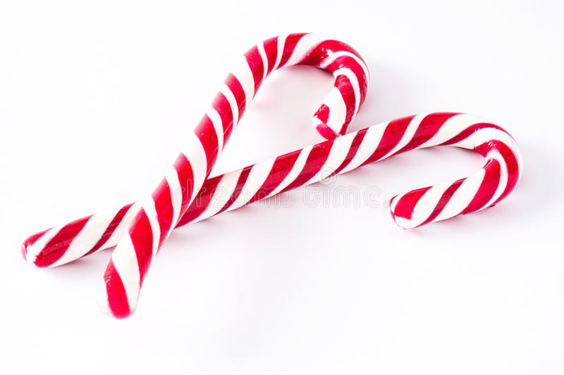 Candy cane isolated. On white background royalty free stock photos