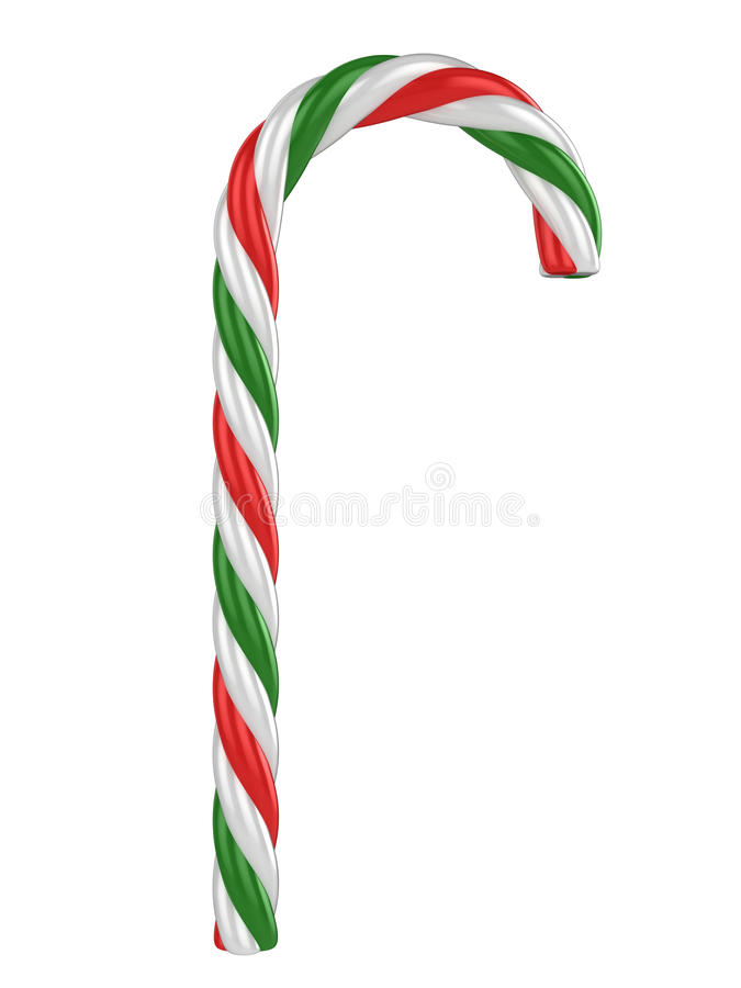 Candy cane isolated on a white background royalty free illustration