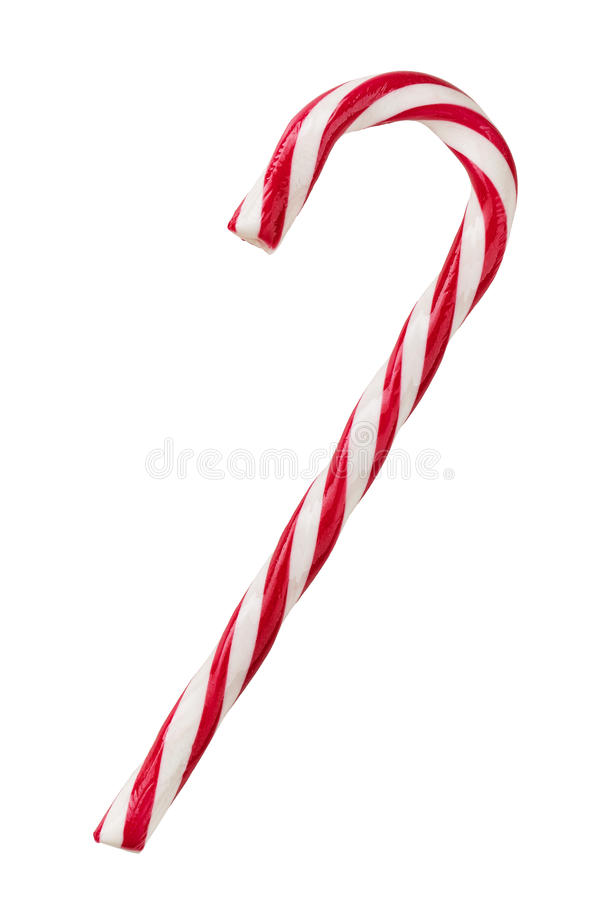 Candy cane isolated on white stock images