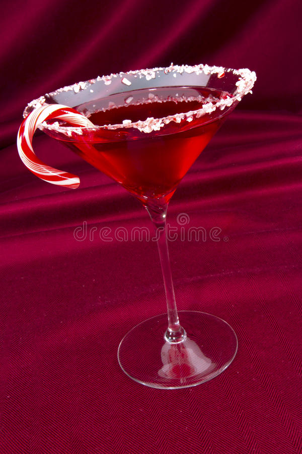 Candy Cane Martini stock images
