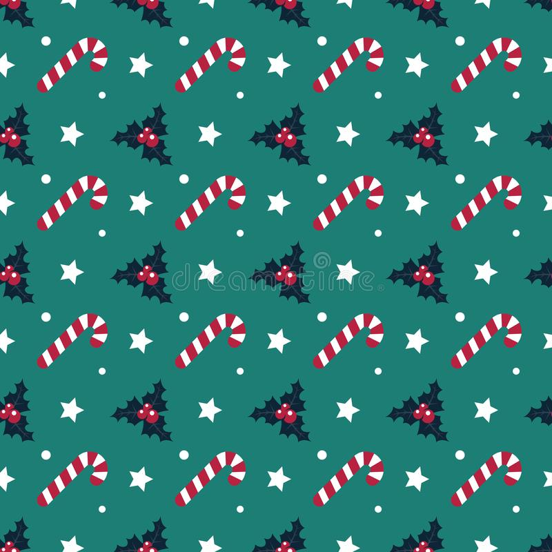 Candy cane seamless pattern christmas symmetry texture green background stock photo