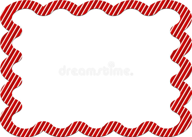 Download Candy Cane Striped Border Royalty Free Stock Photography - Image: 22587437