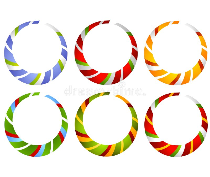 Candy Cane Striped Circles royalty free illustration