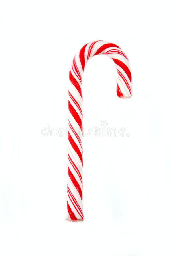 Candy Cane. Treat against a white background stock images