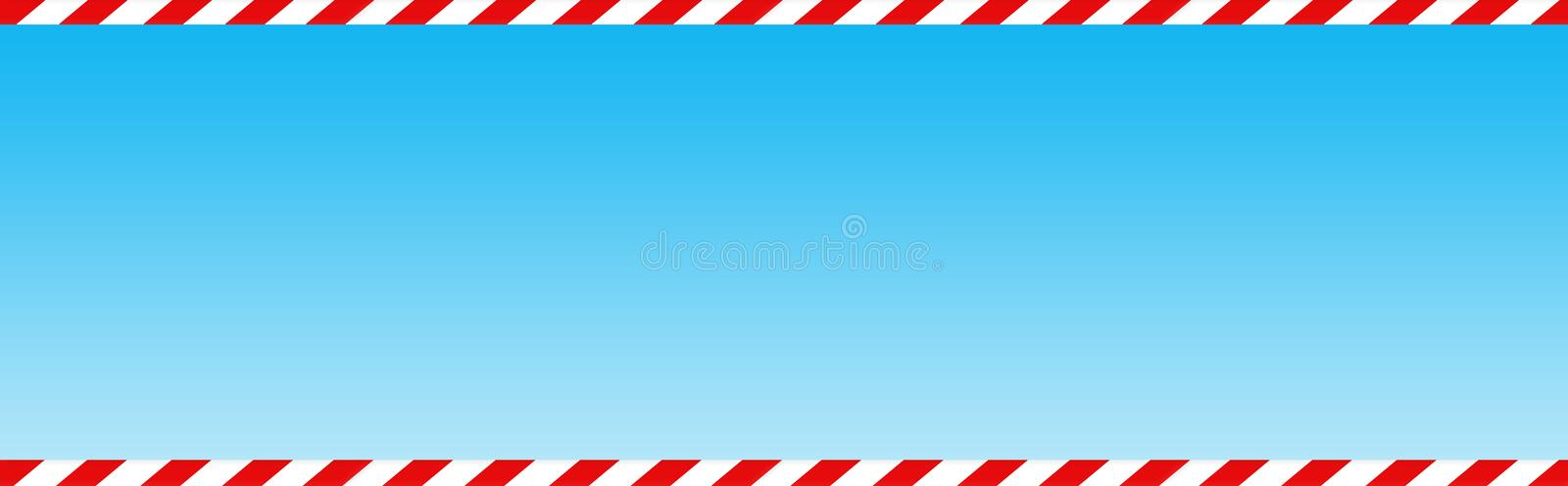 Candy cane web header / banner royalty free stock photography