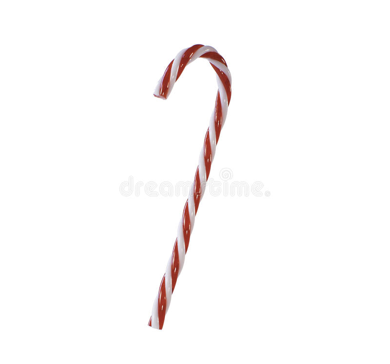 Candy Cane on white royalty free stock photography