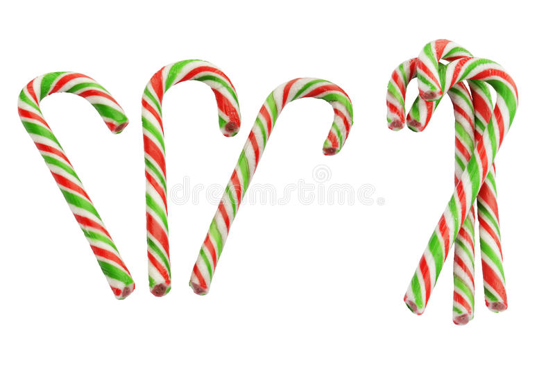 Candy canes. Candy canes isolated on a white background stock image
