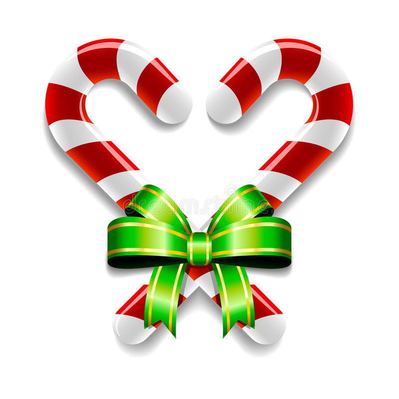 Free Candy Canes And Bow Stock Photos - 35169563
