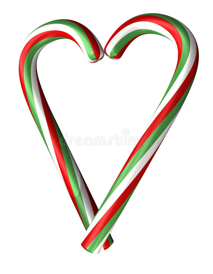 Candy canes heart royalty free illustration
