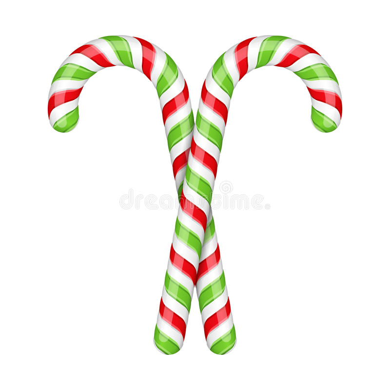 Candy Canes royalty free illustration