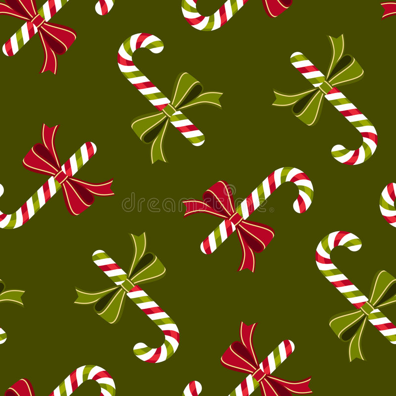 Download Candy Canes Wallpaper Pattern Stock Vector