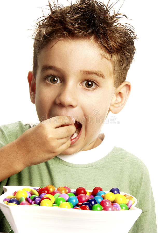 Candy child. stock photo
