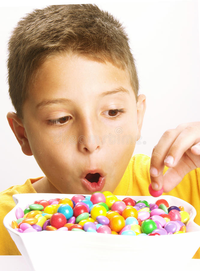 Candy child. royalty free stock photos