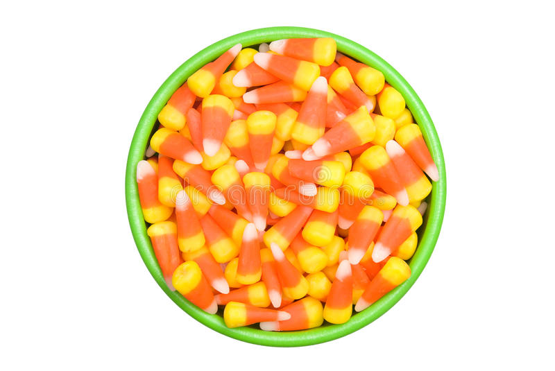 Candy Corn in Bowl stock photo