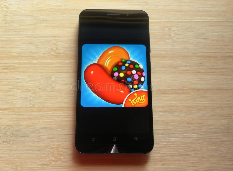 Candy Crush Saga app arkivbilder