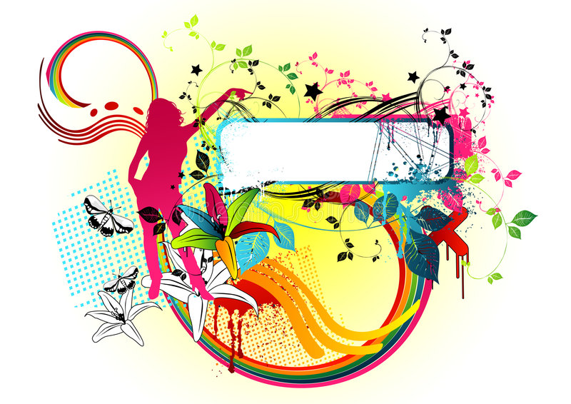 candy disco ostra royalty ilustracja