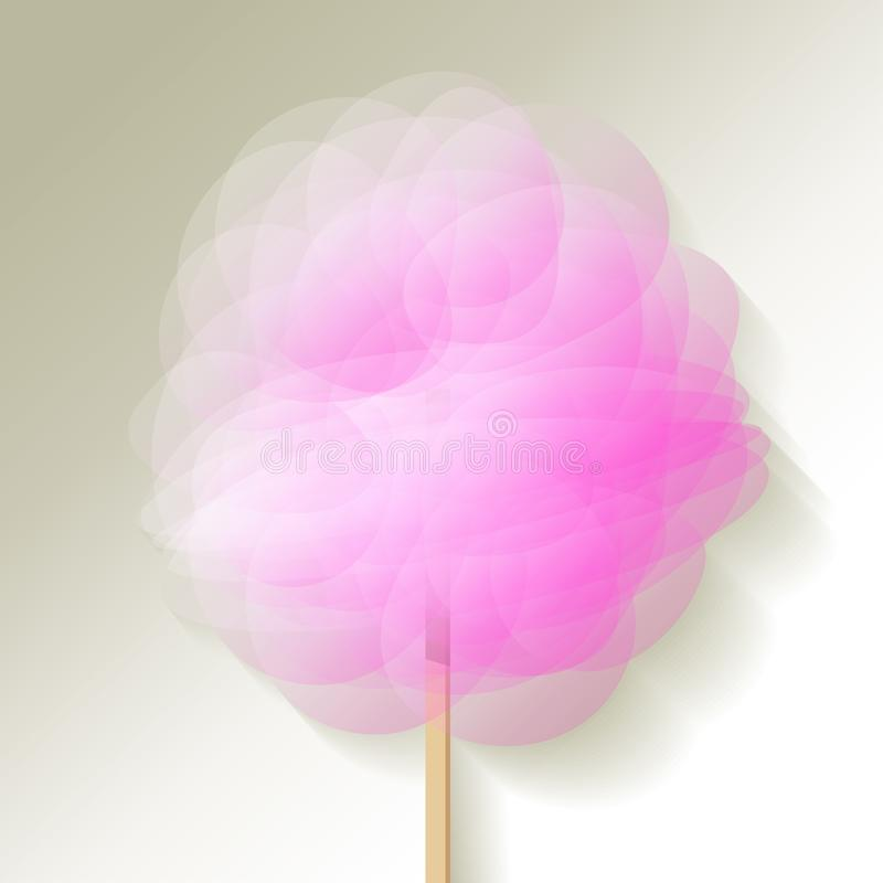 Candy floss pink on a white background. Vector Illustration. Candy floss pink on a white background. Vector Illustration stock illustration
