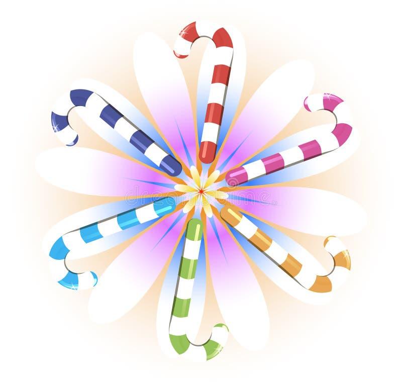 Candy flower vector illustration