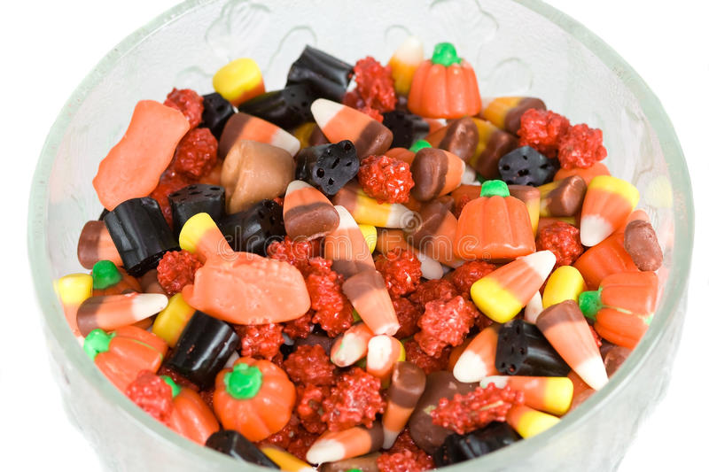 Candy in glass dish. royalty free stock images