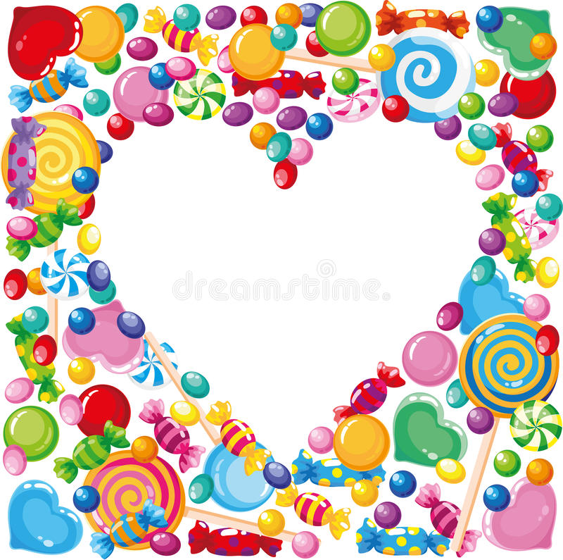 Download Candy heart stock illustration. Image of holiday, cane - 21628233