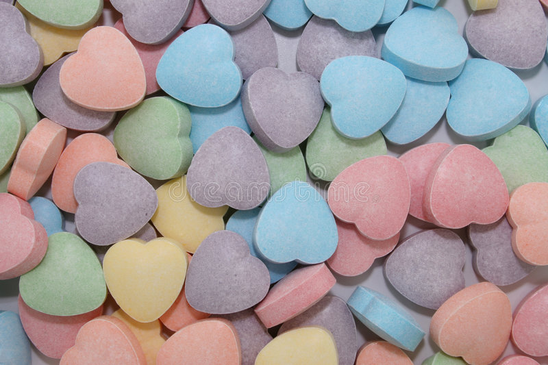 Candy Heart Background (8.2mp Image) stock photo