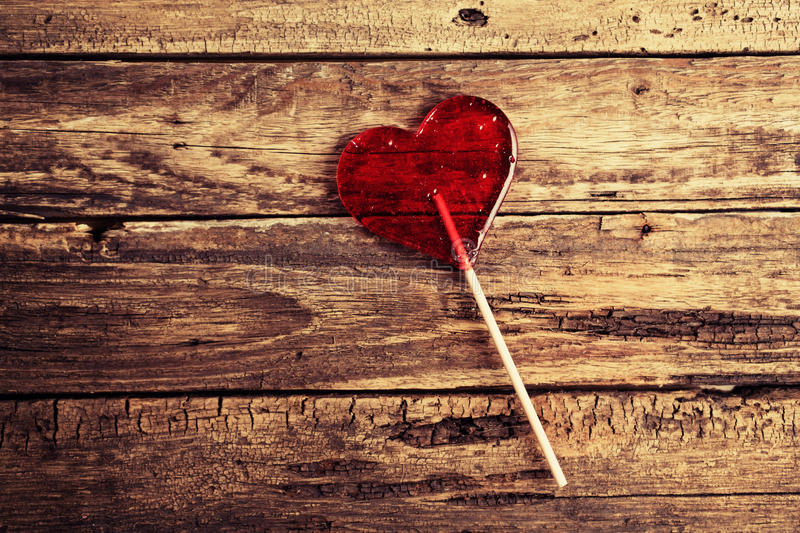 Candy in a heart shape stock photo
