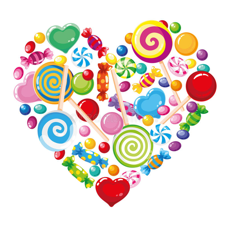 Download Candy heart white stock vector. Image of festive, dessert - 20877236