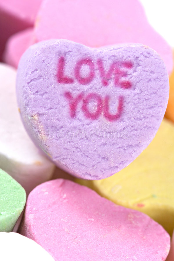 Candy Hearts royalty free stock photo