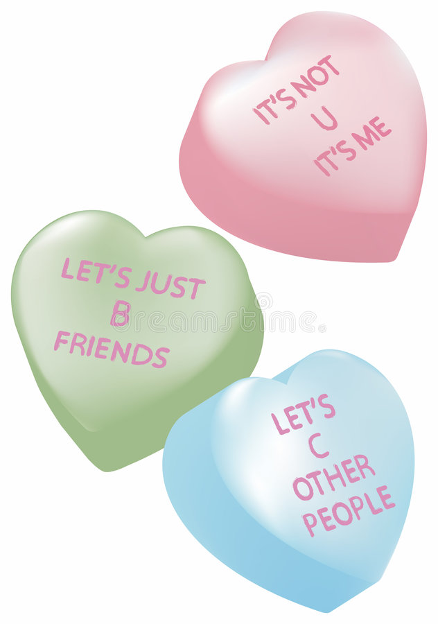 Candy Hearts with Breakup Messages