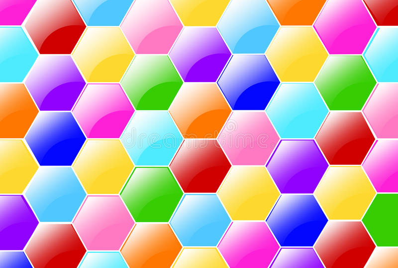 Download Candy Hexagons Wallpaper stock illustration. Image of colorful - 29075151