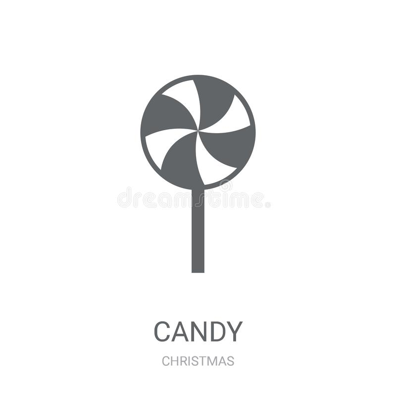 Candy icon. Trendy Candy logo concept on white background from C royalty free illustration