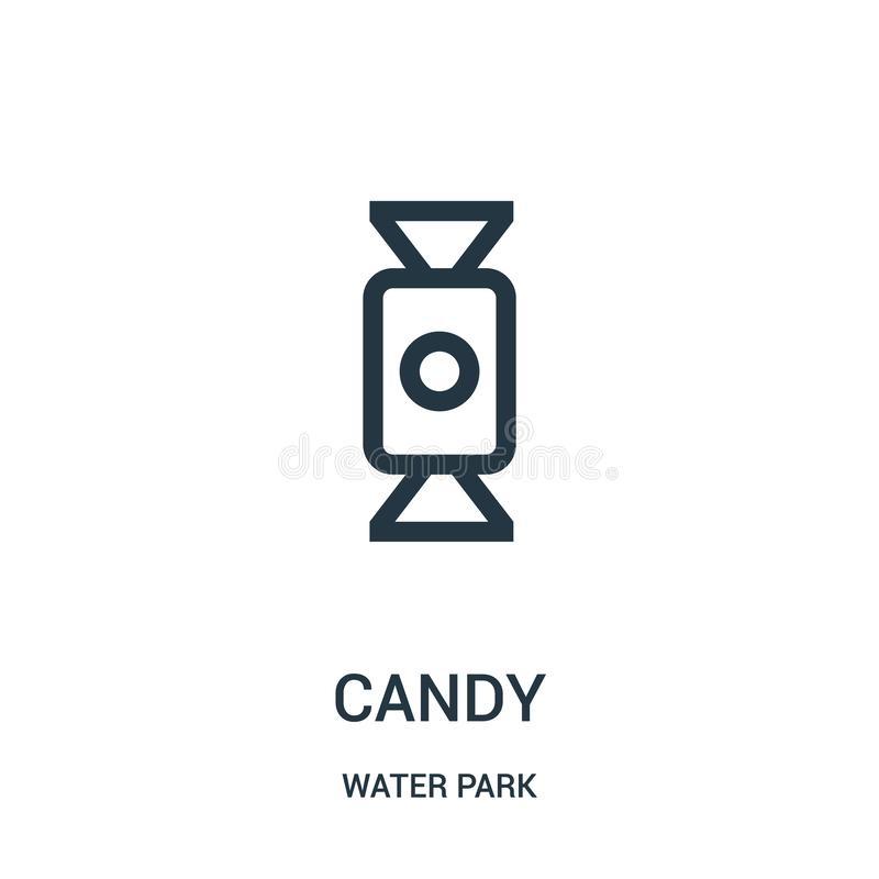 candy icon vector from water park collection. Thin line candy outline icon vector illustration. Linear symbol for use on web and vector illustration