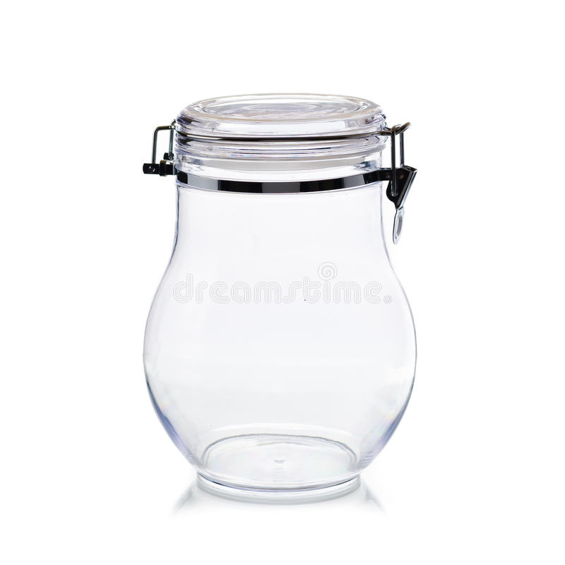 Candy jar isolated. Candy jar clear isolated on white background stock images