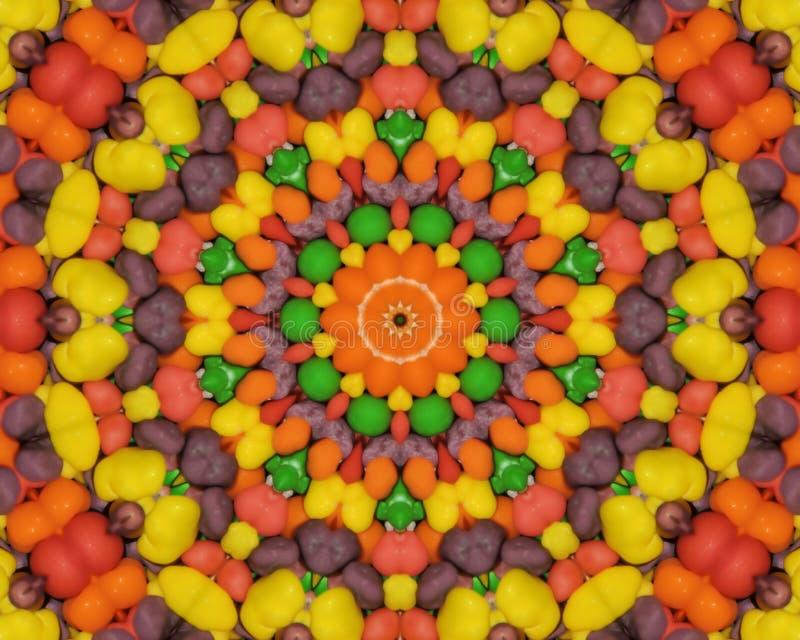Candy Kaleidoscope stock image