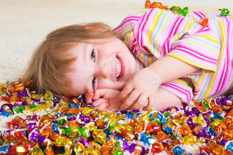 Candy kid royalty free stock images