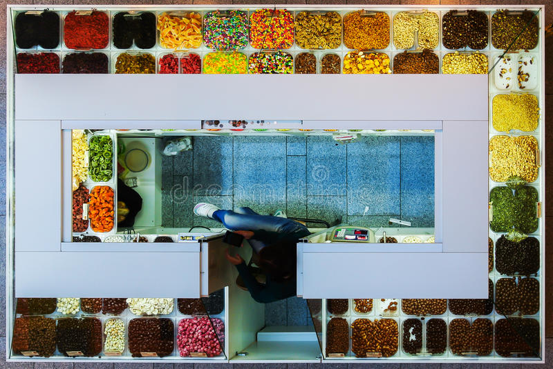 Candy kiosk 2 royalty free stock photo