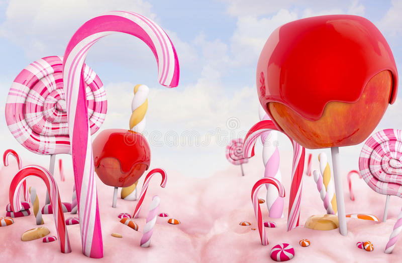 Candy land. High quality 3d render