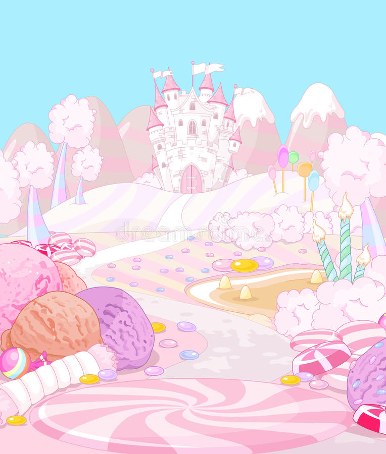 Candy Land. Illustration of sweet Candy land stock illustration