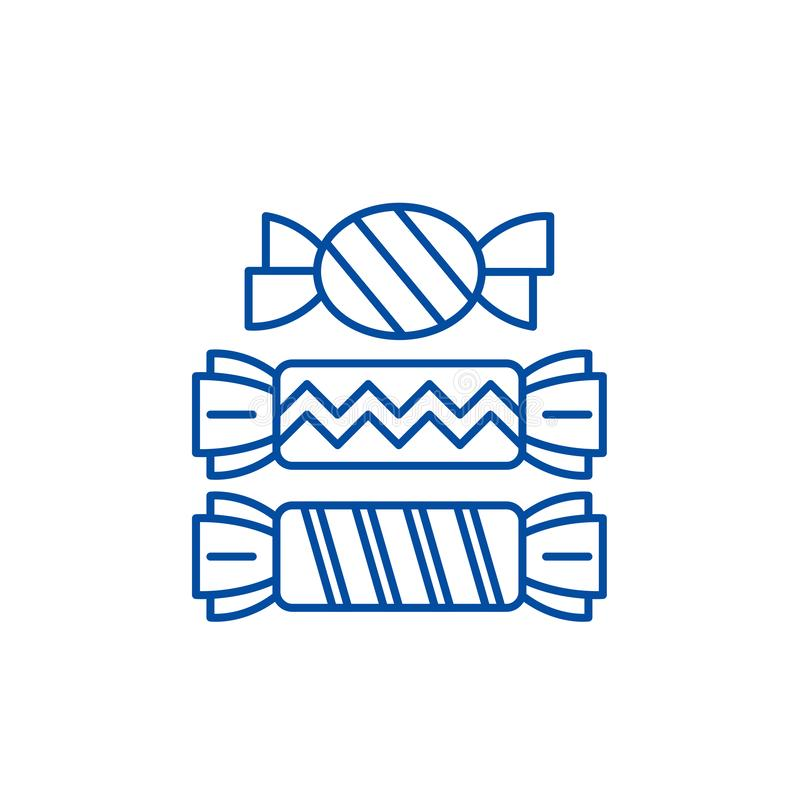 Candy line icon concept. Candy flat  vector symbol, sign, outline illustration. vector illustration