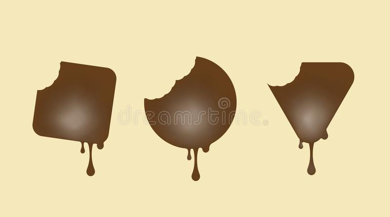 Candy. Milk chocolate. stock illustration