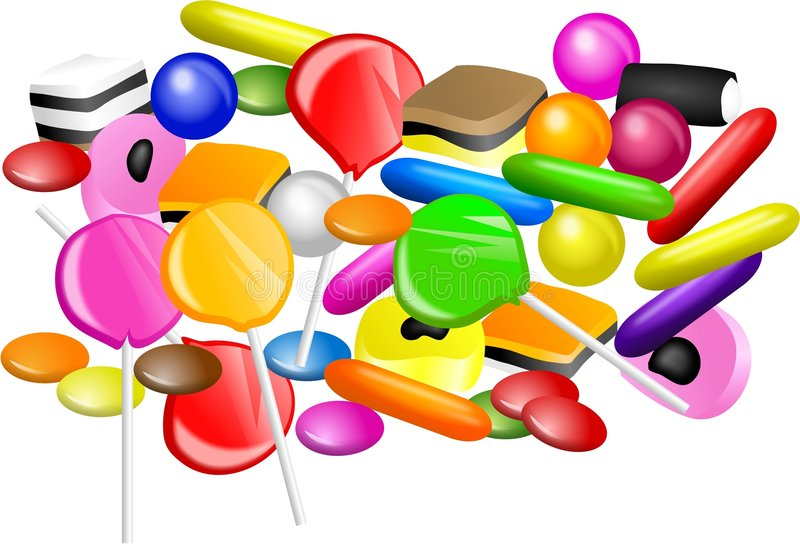 Candy Mixture royalty free illustration