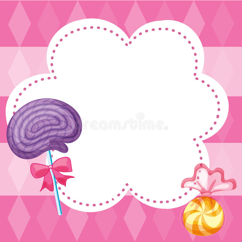 Candy Note Stock Photo