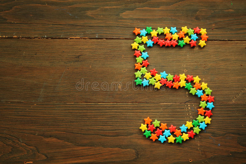 Candy Number Five Stock Photo